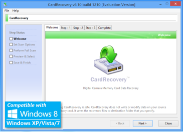 Card Recovery Screenshot